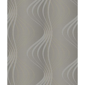 Glam Grey and Silver Glitter Wind Sculpture Wallpaper