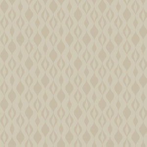 Glam Cream and Gold Glitter Ogee Chain Wallpaper