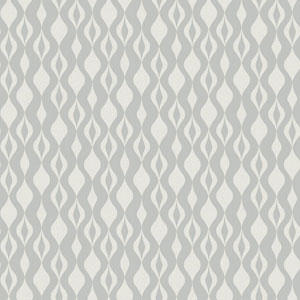 Glam Silver and White Ogee Chain Wallpaper