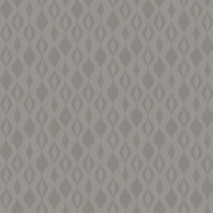 Glam Grey and Silver Glitter Ogee Chain Wallpaper