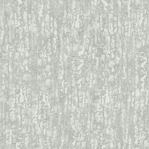 Glam Silver and Pale Grey Combed Stucco Wallpaper