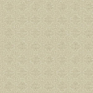 Country Keepsakes Taupe and Brown Small Tiles Wallpaper