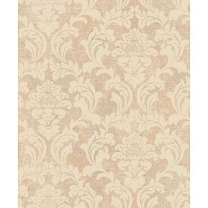 Voyage Linen Damask Wallpaper
