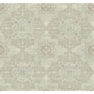 Voyage Linen Medallion Wallpaper