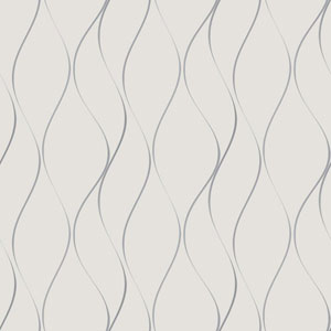 Dazzling Dimensions Wavy Stripe Wallpaper