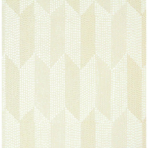 Mid Century Cream Metallic Wallpaper