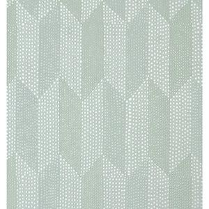 Mid Century Light Blue Metallic Wallpaper