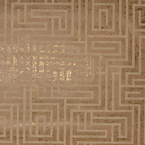 Mid Century Natural Cork Metallic Wallpaper