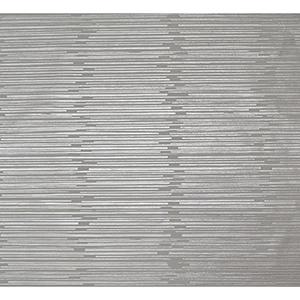Mid Century Silver Metallic Wallpaper