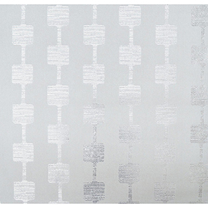 Mid Century Gray and Silver Metallic Wallpaper