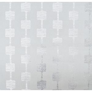 Mid Century Gray and Silver Metallic Wallpaper
