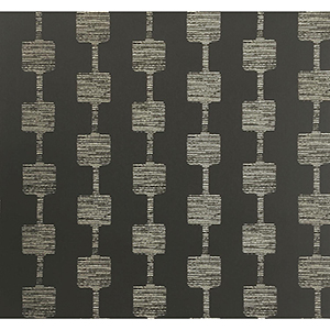 Mid Century Black and Glint Metallic Wallpaper