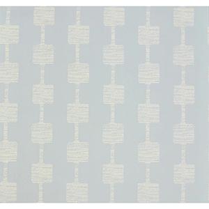 Mid Century Baby Blue and Cream Wallpaper