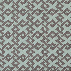 Mid Century Opal Blue and Gray Geometric Wallpaper