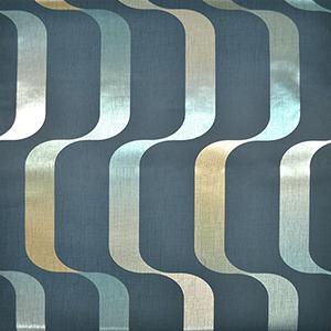 Mid Century Dark Blue Wallpaper