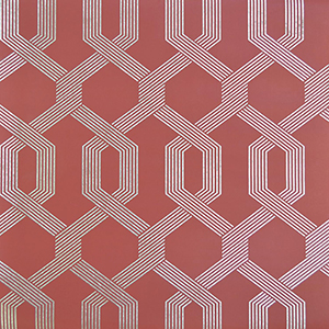 Mid Century Red Wallpaper