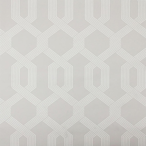Mid Century Light Gray and White Wallpaper