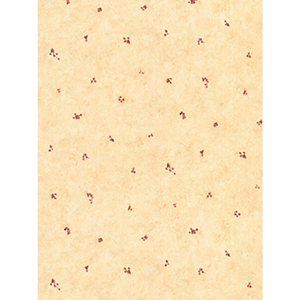 Welcome Home Peachy Beige, Ruby Red and Brown Mini Berry Spot Wallpaper