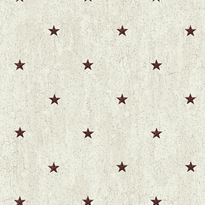 Welcome Home Off White, Grey, Black and Barn Red Barn Star Spot Wallpaper