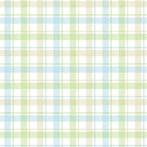 York Kids Pastel and Green and Blue IV Woven Plaid Wallpaper