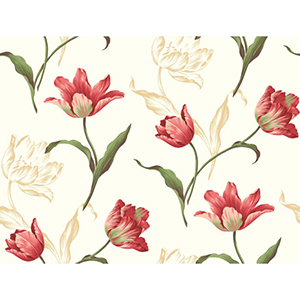 Inspired by Color Off White Tulip Wallpaper