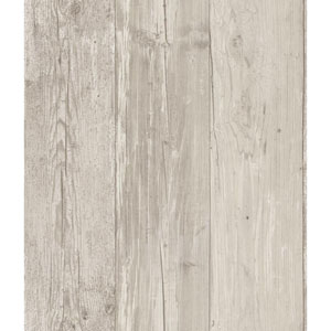 Welcome Home Dove Grey, Oyster and Taupe Wide Wooden Planks Wallpaper