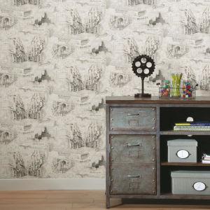 Harry Potter Tan Map Peel and Stick Wallpaper
