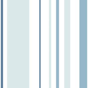 Blue Stripes Peel and Stick Wallpaper