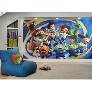 Toy Story 3 Chair Rail Prepasted Mural 6 Ft. x 10.5 Ft. - Ultra-strippable