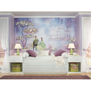 Princess and Frog Chair Rail Prepasted Mural 6 Ft. x 10.5 Ft. - Ultra-strippable