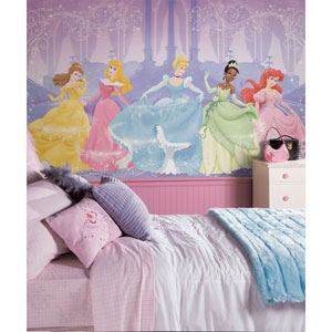 Perfect Princess Chair Rail Prepasted Mural 6 Ft. x 10.5 Ft. - Ultra-strippable