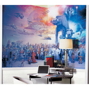 Star Wars Saga Chair Rail Prepasted Mural 6 Ft. x 10.5 Ft. - Ultra-strippable