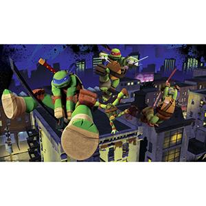 Prepasted Mural Multicolor Cityscape Teenage Mutant Ninja Turtles