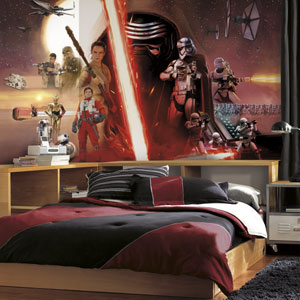 Star Wars Multicolor Ep VII Prepasted Surestrip Mural