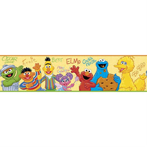 Sesame Street Peel and Stick Border