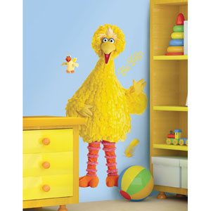 Sesame Street Big Bird Peel and Stick Giant Wall Decal