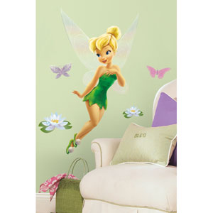 Disney Fairies - Tinkerbell Peel and Stick Giant Wall Decal
