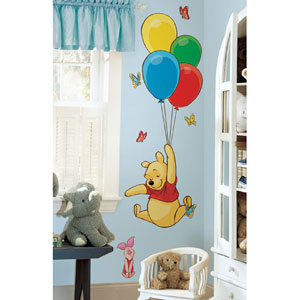 Winnie the Pooh - Pooh and Piglet Peel and Stick Giant Wall Decal