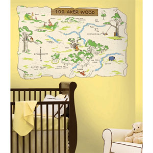 Winnie the Pooh - 100 Aker Wood Peel and Stick Map