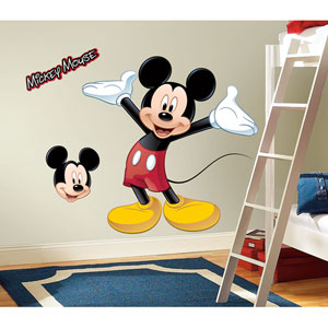 Mickey and Friends - Mickey Mouse Peel and Stick Giant Wall Decal