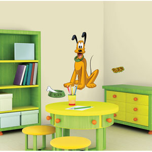 Mickey and Friends - Pluto Peel and Stick Giant Wall Decal