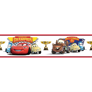 Cars - Piston Cup Champion Peel and Stick Border