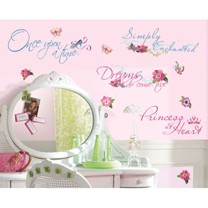 Disney Princess - Princess Quotes Peel and Stick Wall Decal