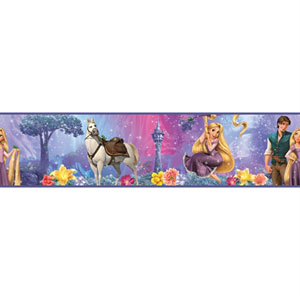 Tangled - Rapunzel Peel and Stick Border