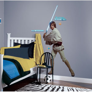 Star Wars Classic Luke Peel and Stick Giant Wall Decal