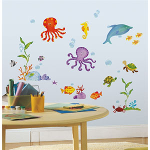 Adventures Under the Sea Peel and Stick Wall Decals