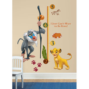 The Lion King Rafiki Peel and Stick Giant Growth Chart