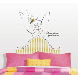 Disney Fairies - Tinkerbell Headboard Peel and Stick Giant Wall Decal