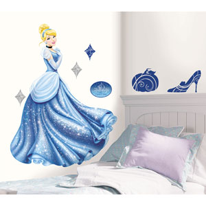 Disney Princess - Cinderella Glamour Peel and Stick Giant Wall Decal