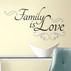 Family is Love Peel and Stick Wall Decals